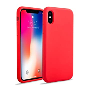 coque iphone x antichoc rouge