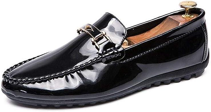 Flâneur - Zapatos de conducción para Hombre, Estilo Mocasines y Zapatos Planos, con Hebilla de Metal y Zapatos cómodos: Amazon.es: Zapatos y complementos