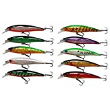 10pcs/lot 13cm 3D Fishing Eyes Laser Line Hard Minnow Baits Life-like Swimbait Fishing Lures Bass Crankbait Tackle for Pikes/Bass/Trout /Walleye/Redfish