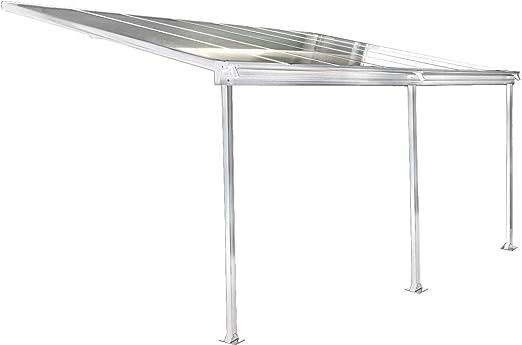 osoltus - Cubierta de aluminio para terraza, color blanco: Amazon ...