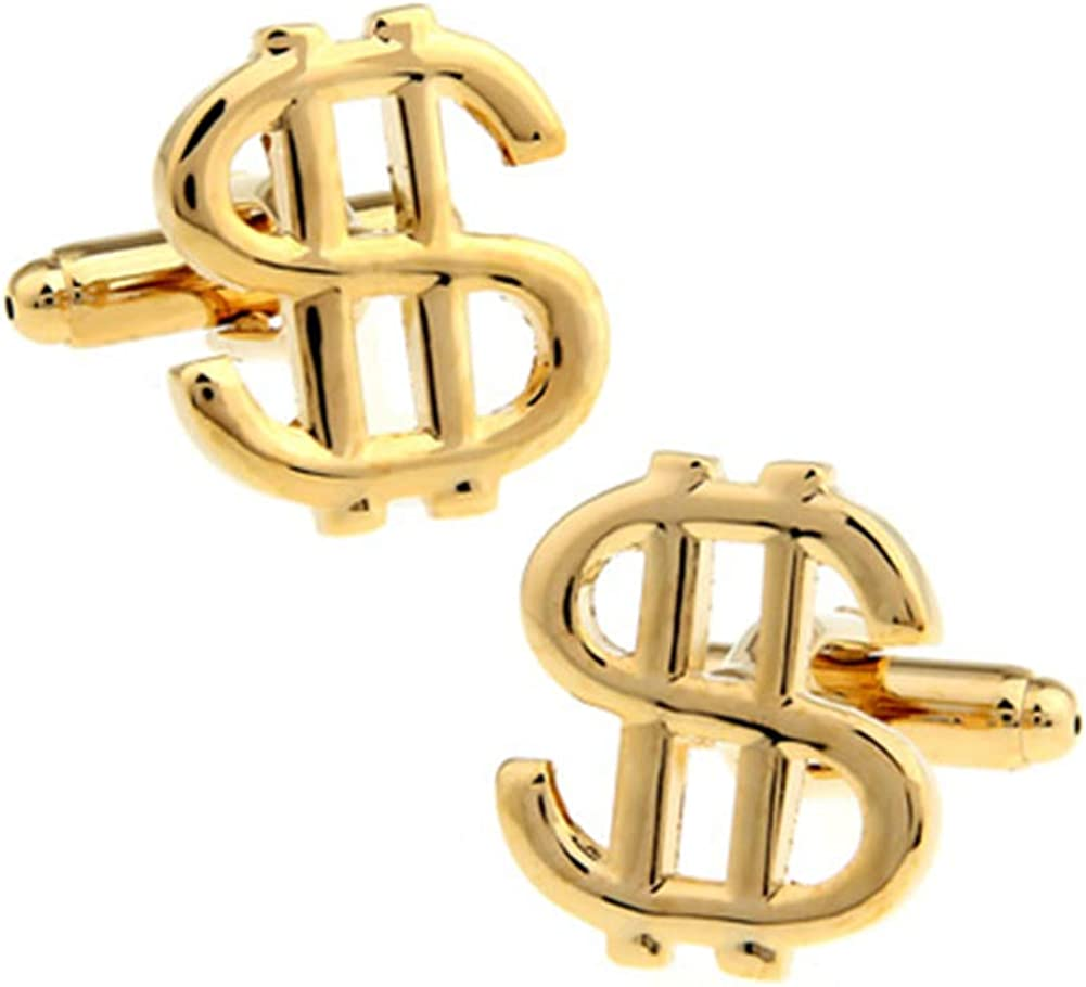 Dollar Sign Currency Cufflinks Money Wedding Gift