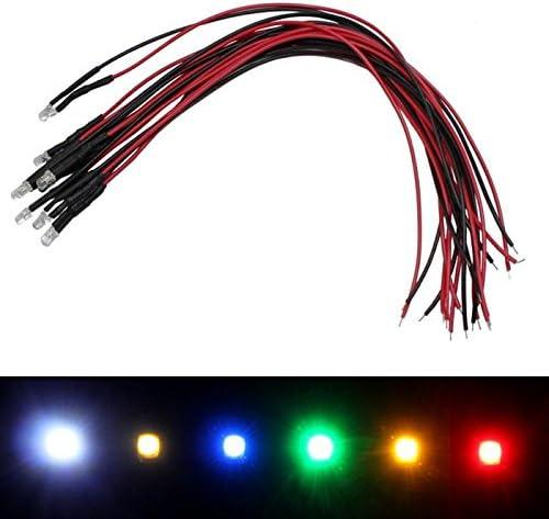 10x Superhelle Leds 3mm Gelb Für 5v 20cm Kabel 2000 2500mcd 30 Beleuchtung