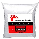 "IZO Home Goods Premium Hypoallergenic Stuffer Pillow Insert Sham Square Form Polyester, 16"" L X 16"" W, Standard/White"