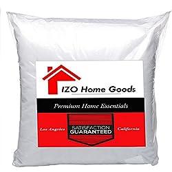 "IZO Home Goods Square Sham Stuffer Hypo-allergenic Poly Pillow Form Insert, 20"" W x 20"" L"