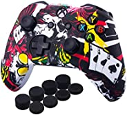 MandaLibre Funda + 8 Grips de Silicona para Controles de Xbox One S y X (Poker)