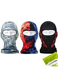 Bundle Monster 3pc Lightweight Breathable Wind UV Protecting Face Mask Balaclava