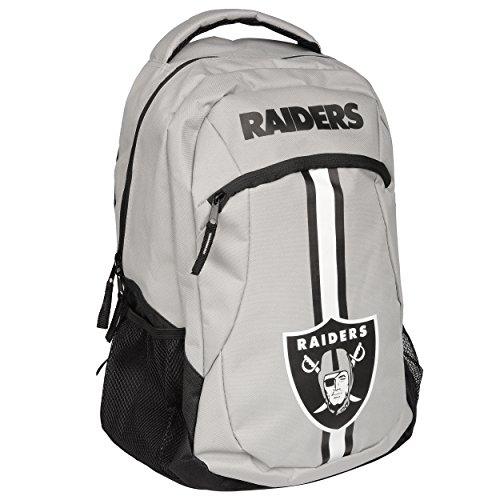 2017 NFL Action Backpack School Gym Bag - Oakland (Nfl School Backpack)