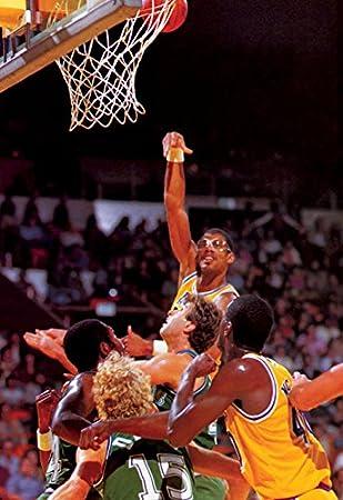 Kareem Abdul-Jabbar Póster, gancho Shot, los angeles, Lakers, NBA ...