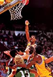 Kareem Abdul-Jabbar Poster, Hook Shot, Los Angeles, Lakers, NBA, Basketball