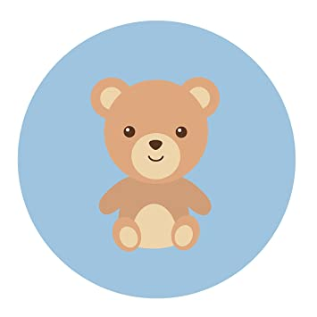 amazon com blue teddy bear stickers boy s baby shower or birthday