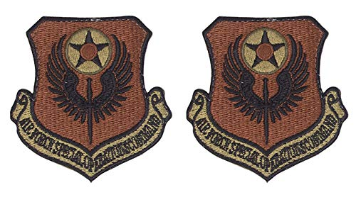 USAF Special Operations Command OCP Spice Brown Patch with Hook Fastener-2 Pack