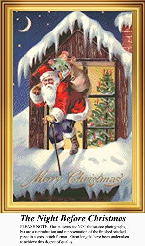 Vintage Counted Cross Stitch Pattern A Joyful Christmas Pattern Only, You Provide the Floss and Fabric