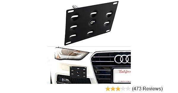 License Plate Holder Bracket Support Number Frame For Audi Q7 2009-2012 Black