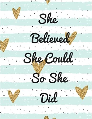 Quote Book Interesting She Believed She Could So She Did Quote Journal For Girls Notebook
