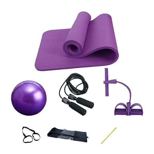 YCLOTH - Kit de Entrenamiento para Yoga, Esterilla de Yoga + ...