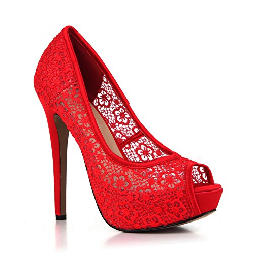 Faux Best Sandali Peep 14cm Lace High Toe Wedding Pumps Faux Net Pigolio Summer 3cm Unico Talloni Delle Nozze Basic Rosse Di 3cm Breathable Tacchi Sandals Shoes Gomma 14cm Alta Women's 4u Traspiranti Netti Punta Base Red Heels Heels Estate Di Sole Pompe Silk Migliore Merletto Rubber Del Donne 4u Seta Di 4xwrY4q