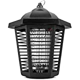 Sandalwood Electric Bug Zapper - Water Resistant Indoor and Outdoor Lantern with ½ Acre Range for Mosquitoes, Flies, Gnats & Other Insects