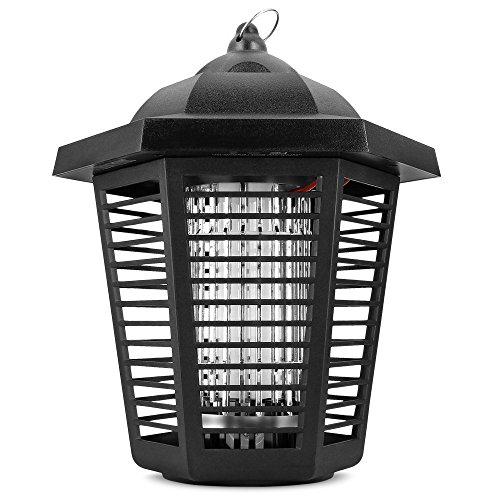 Sandalwood Electric Bug Zapper - Water Resistant Indoor and Outdoor Lantern with ½ Acre Range for Flies, Gnats, Pests & Other Insects