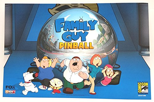Family Guy Pinball Poster 11.5 x 17.5 inches LE from San Diego Comic Con 2015