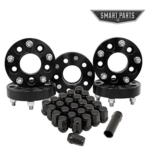 5 Jeep Wheel Adapters 5x4.5 to 5x5 1.25'' (32mm) - Adapts Jk Wheels on Tj Yj Kk Sj Xj Mj (Set of 5) + 25 Chrome Acorn Lug Nuts by Smart Parts (Image #4)