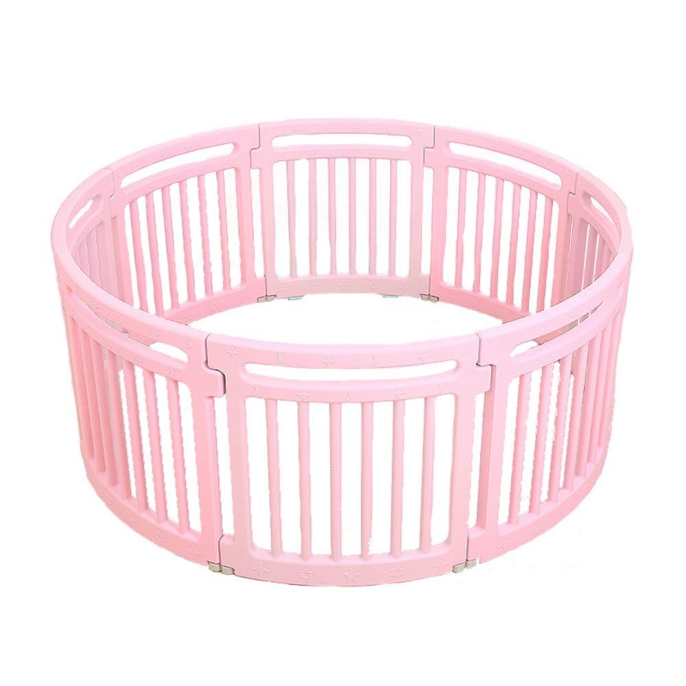 XIAOMEI,ベッドフェンス ゲームフェンス学習クロールフェンス子供の遊びフェンス屋内学習フェンス子供 家庭、屋外で使用されます (色 : ピンク)  ピンク B07R51TTN6