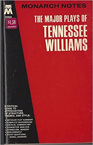 Business Communication Essay The Major Plays Of Tennessee Williams Cat On A Hot Tin Roofthe Glass  Menagerieorphedeus Descendinga Streetcar Named Desire And Others Monarch  Notes By  Essays Papers also Writing A High School Essay The Major Plays Of Tennessee Williams Cat On A Hot Tin Roofthe  Sample Narrative Essay High School