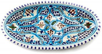 OCarrefour de la Deco Plana Oval Turquesa cerámica: Amazon ...