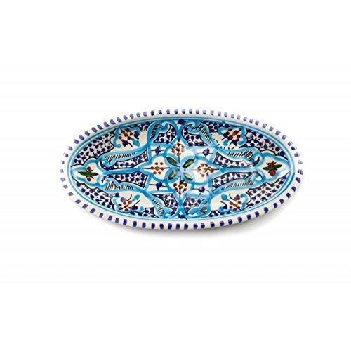 OCarrefour de la Deco Plana Oval Turquesa cerámica: Amazon.es: Hogar