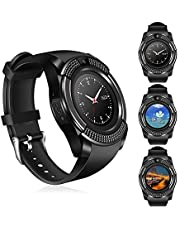 KDSFJIKUYB Smart Watch V8 Smart Watch Polsband Camera fitness tracker SIM/TF Bluetooth Wijzerplaat/antwoord Slaap Monitor smartwatch voor Android IOS VS Y1 Q18