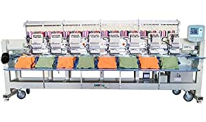 CAMFive CFHS-CT1508 10H 8 heads, 15 needle embroidery machine, free onsite installation & training and unlimited support