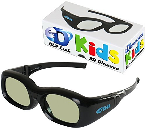 KIDS DLP LINK eDimensional Elite 144 Hz Active Rechargeable eD Children's 3D Glasses for All 3D DLP Projectors - BenQ, Optoma, ViewSonic & Endless Others! by eDimensional