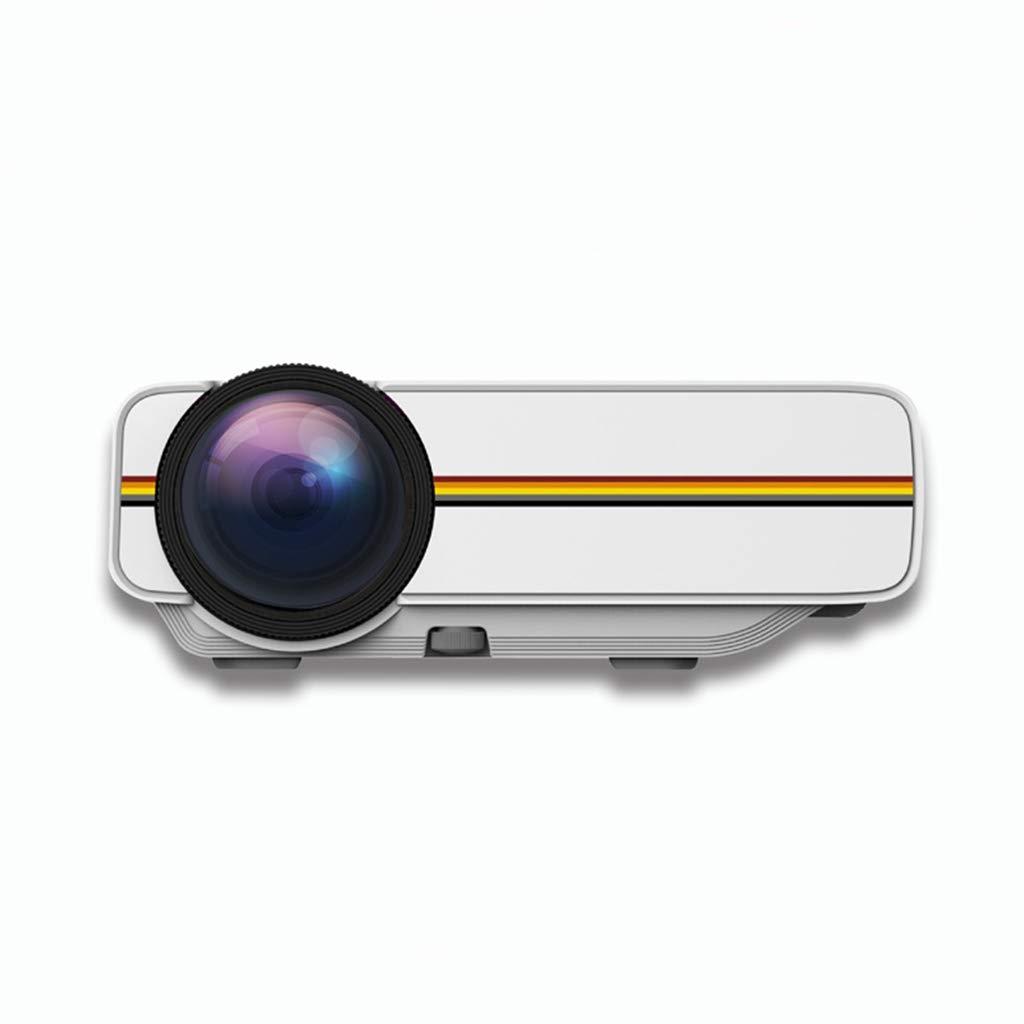 ミニプロジェクター、ミニミニホームポータブルプロジェクターHD 1080Pポータブル (Color : 白) B07KC1CLNY