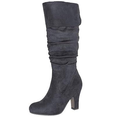 TRENDSup Collection Women's Mid Heel Boots | Knee-High