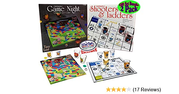 Matty S Toy Stop Deluxe Drinking Games Tipsy Land And Shooters Ladders Gift Set Bundle 2 Pack Includes Glass Boards Shot Glasses Dice Amazon Com Au Toys Games