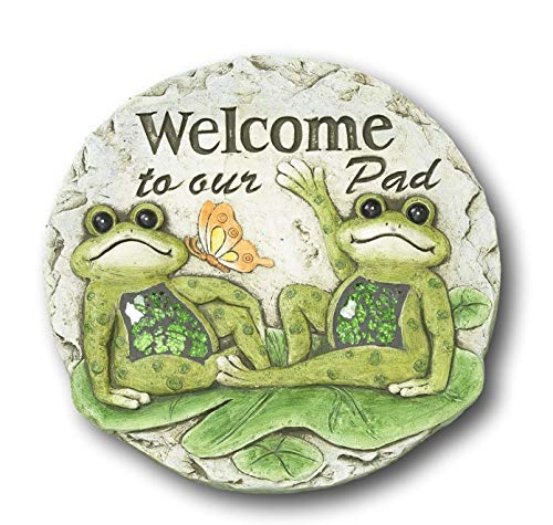 Lily Pad Garden - Spring Frogs on Lily Pads Garden Stepping Stone (Welcome to Our Pad)