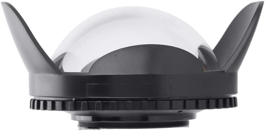 67mm Camera Fisheye Dome Port Wide Angle Lens Shade 60m Pressure Resistant Dome Port Housing for Diving