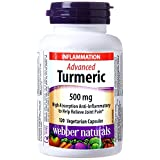 Webber Naturals Advanced Turmeric 120 Capsules High Anti-inflammatory to Help Relieve Joint Pain