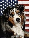 Australian Shepherd Blue Merle – Best of Breed Patriotic II Large Flags Review
