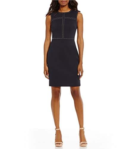 Ivanka Trump Womens Ponte Dress with Grommets