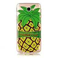 Samsung Galay J7 2017 case KSHOP TPU en Souple Silicone Bumper Housse Ultra mince Flexible Transparent de Protection Portable Anti shock Anti Scratch avec Motif - Amour d'été - Ananas Cartoon