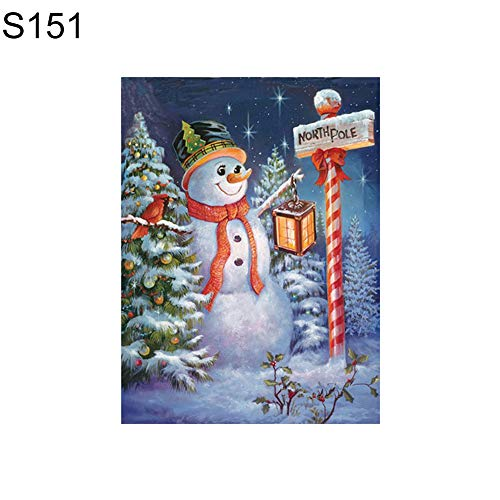 angel3292 Clearance Deals!!Christmas Snowman Partial Diamond Painting Cross Stitch Embroidery Wall Decor