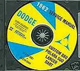 1962 DODGE REPAIR SHOP & SERVICE MANUAL & BODY MANUAL CD INCUDES: Lancer 170, Lancer 770, Lancer GT, Dart, Dart 330, Dart 440, and Polara 500 plus all convertibles and wagons. 62