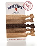 Mane Street Hair Ties (Neutral) - Made From The Best Fold Over Elastic Material On The Market - No Tug Knotted Elastic Ribbon - Prevents Ponytail Holder Headache - Best Seller