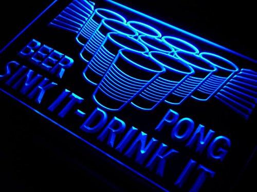Beer Pong Sink Drink (Beer Pong Sink It Drink It Bar LED Sign Neon Light Sign Display)