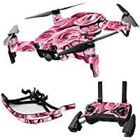 MightySkins Skin for DJI Mavic Air Drone - Pink Roses | Max Combo Protective, Durable, and Unique Vinyl Decal wrap cover | Easy To Apply, Remove, and Change Styles | Made in the USA