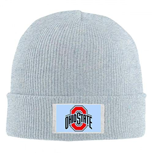 Ohio Sta-te University Wool Feel Beanie Hat Winter Unisex Men Women Knit Cap Gray (Ohio State Beanie Womens)