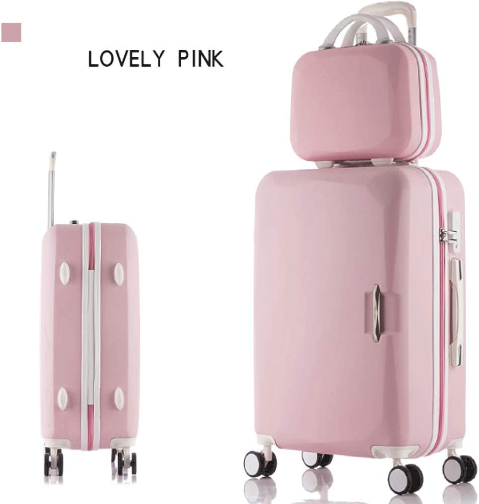 HUANGA Luggage Color : Black, Size : 20 inches Simple and Stylish Trolley Case Large Capacity 26 Inch Adjustable Suitcase Set