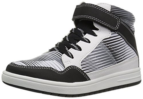 The Children's Place Boys' BB HI Jet Sneaker, White, 4 Youth US Big ()