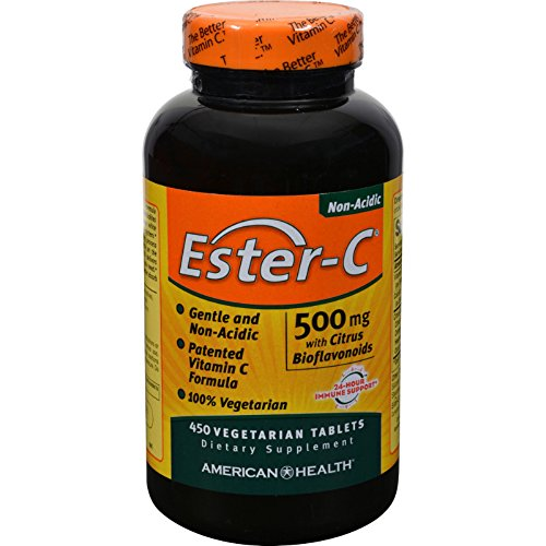 4 Pack of American Health Ester-C with Citrus Bioflavonoids - 500 mg - 450 Vegetarian Tablets - - - by American Health