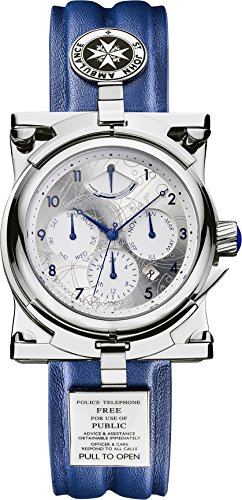 Mechanical Silver Dial (Doctor Who Men's Mechanical Chronograph Display Watch With Silver Dial And Blue)